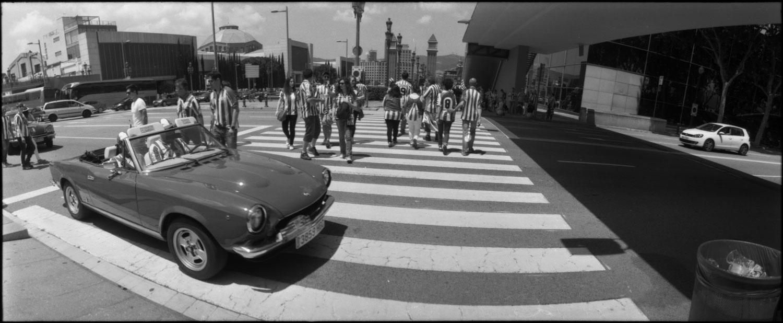 Athletic Bilbao fans camp through Horizon202 film shooter - Barcelona