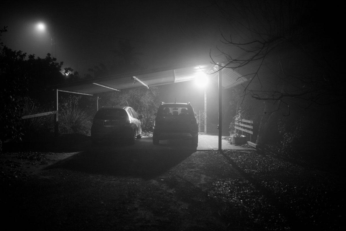 misty night - spontaneous photography series