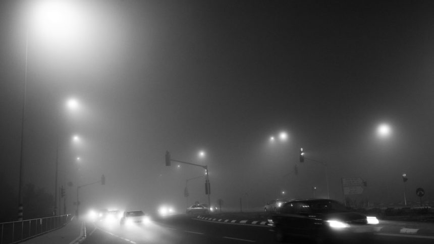 misty night – spontaneous photography series