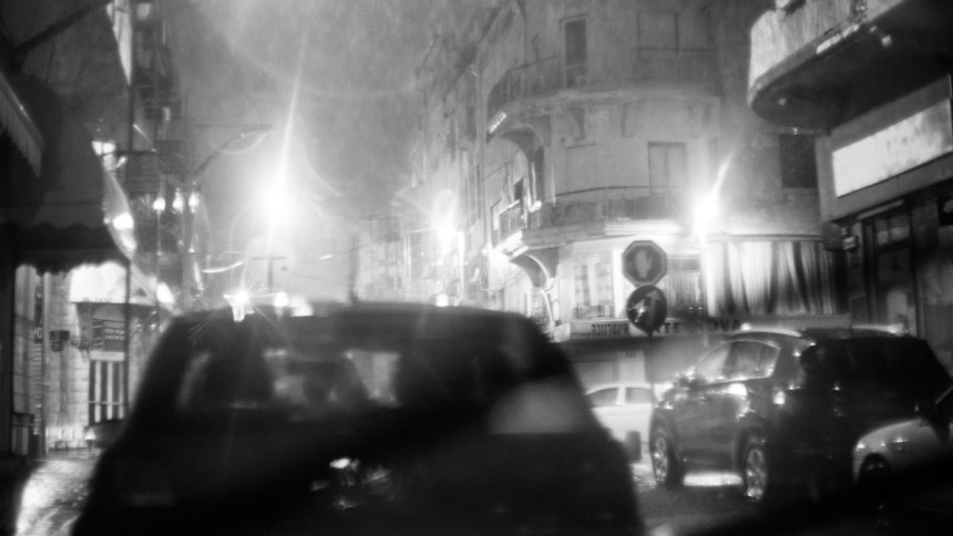 Sudden-night-shower-in-TelAviv-with-Asahi-50mm-lens